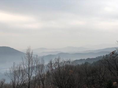 광릉추모공원의 겨울 풍경